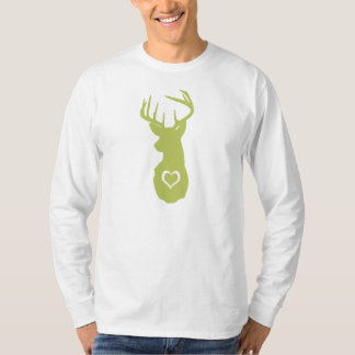 HIPSTER DEER HEAD WITH HEARTS T-Shirt