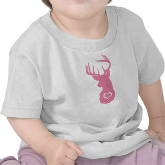 HIPSTER DEER HEAD WITH HEARTS TEE SHIRTS