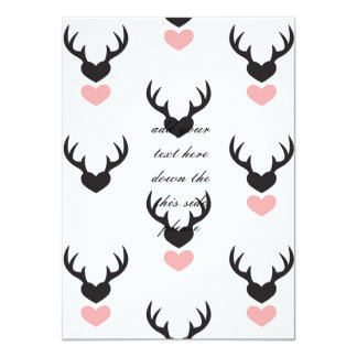 Hipster,deer,hearts,fun,modern,trendy,romantic,gir Card