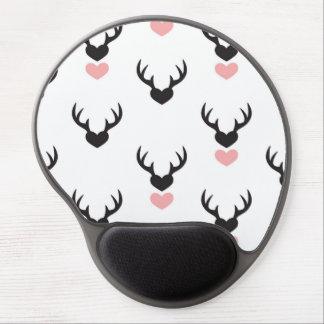 Hipster,deer,hearts,fun,modern,trendy,romantic,gir Gel Mouse Pad