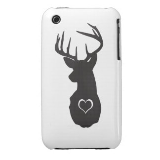 Hipster Deer with Hearts Case-Mate iPhone 3 Case