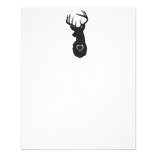 HIPSTER DEER WITH HEARTS FLYER