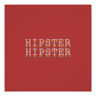 """HIPSTER """"Definitions"""" Typography Poster Borderless"""