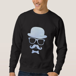 Hipster derby moustache glasses pop art 1 31 pull over sweatshirts