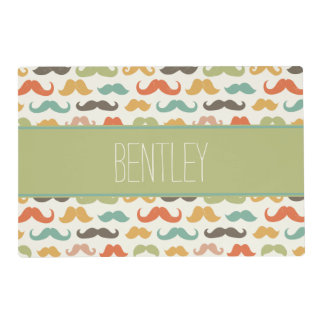 Hipster Design Personalized Pet Placemat