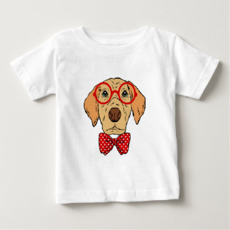 Hipster Dog Fun Unique Baby T-Shirt