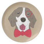 Hipster Dog Party Plates
