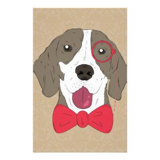 Hipster Dog Custom Stationery
