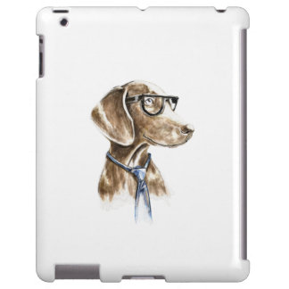 Hipster Dog With Glasses and Necktie Portrait