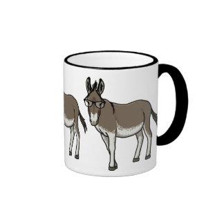 Hipster Donkey Ringer Mug