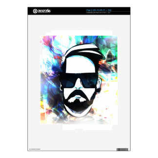 Hipster Dude Decal For The iPad 2