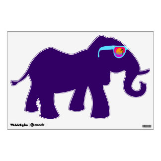 Hipster Elephant In Shades Room Decals