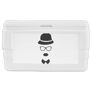 Hipster Face 48 Quart Duo Deco Cooler