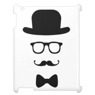 Hipster Face Glossy iPad Air Mini Retina Case iPad Covers