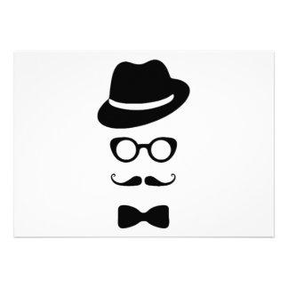 Hipster Face Invitation