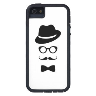 Hipster Face iPhone 5/5S Tough Xtreme Cover For iPhone 5