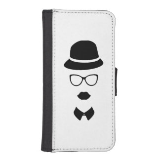 Hipster Face iPhone 5/5s Wallet Case Phone Wallets