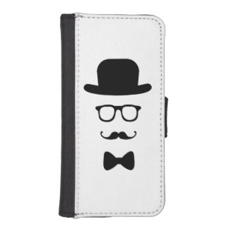 Hipster Face iPhone 5/5s Wallet Case Phone Wallet
