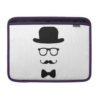 "Hipster Face Macbook Air 13"" Horizontal Sleeve"