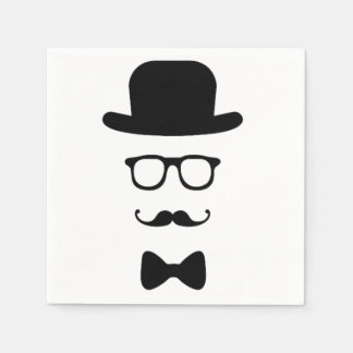 Hipster Face Paper Napkin