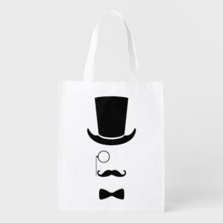 Hipster Face Reusable Bag Reusable Grocery Bag