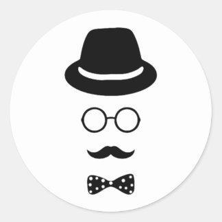Hipster Face Sticker