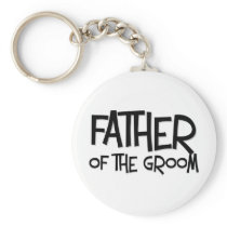 Hipster Father of the Groom Keychain