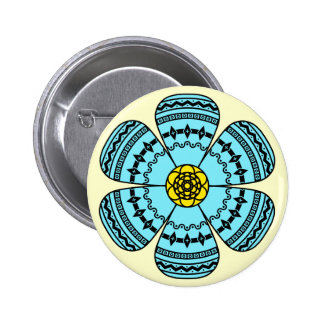 Hipster Flower Button
