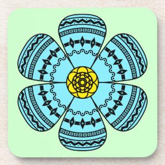Hipster Flower Cork Coaster