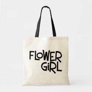 Hipster Flower Girl Canvas Bag