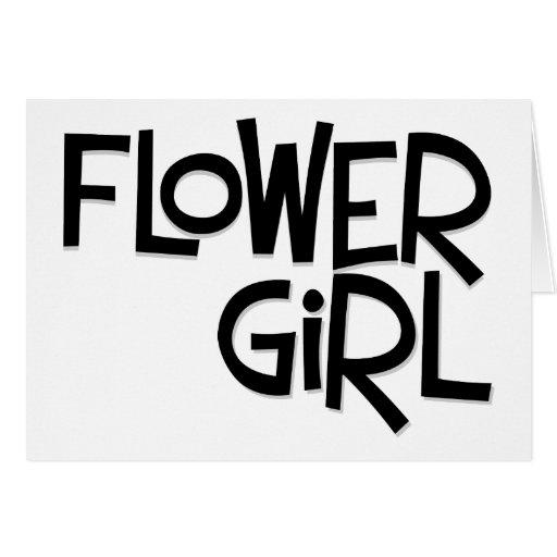 Hipster Flower Girl Greeting Card