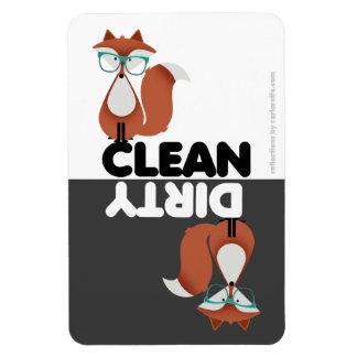 Hipster Fox Dishwasher Magnet
