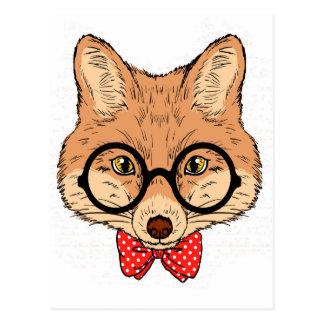 Hipster Fox Fun Unique Postcard