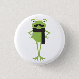 Hipster Frog Button
