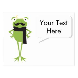 Hipster Frog Postcard