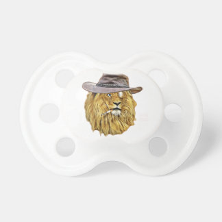Hipster Funny Lion Cat Pacifier