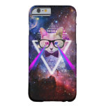 Hipster galaxy cat barely there iPhone 6 case