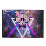 Hipster galaxy cat iPad air covers