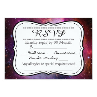 Hipster galaxy outer space RSVP 3.5x5 Paper Invitation Card