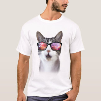 Hipster Galaxy Space Cats Men's Shirts