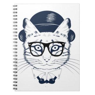 Hipster Geek Cat Notebook