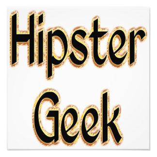 Hipster Geek Green Gold Art Photo
