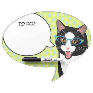 Hipster Geek Student Cat To Do Memo Board