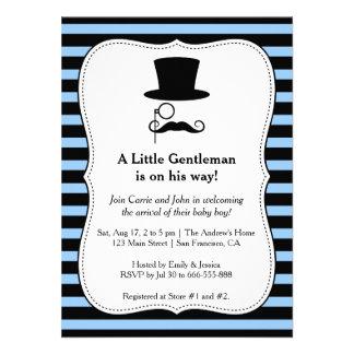 Hipster Gentleman baby boy shower invitation Invitation
