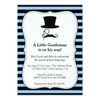 Hipster Gentleman baby boy shower invitation