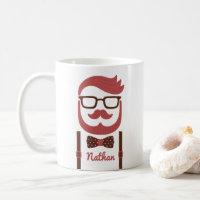 Hipster Gentleman Moustache and Bowtie Mug