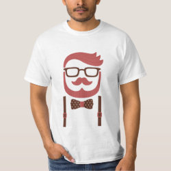 Men's Crew Value T-Shirt with Iconic Cowboy Moustache design