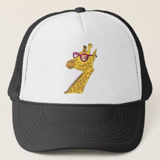 hipster giraffe trucker hat