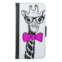 Hipster Giraffe Wallet Phone Case For Samsung Galaxy S6