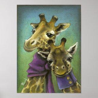 Hipster giraffes print